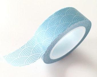 Blue wave washi Tape - Planner Sticker Tape