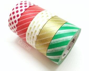 Christmas Washi Tape gift set of 5
