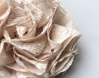 SWANKY Vintage Couture Fabric Flower - Light Tan - (Made to Order) - Photo Prop - Spring Easter Wedding