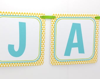 Name Banner - Made to Match Pineapple Party Birthday Banner