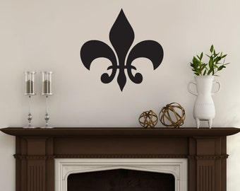 Fleur De Lis   Flowers And Shapes Wall Decals Part 96