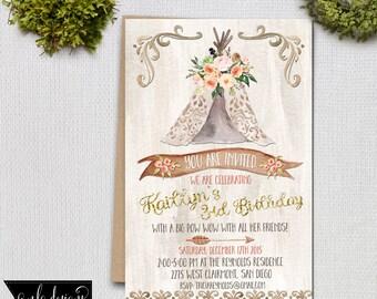 Birthday Invitation, Printable Invite, Birthday Invitation, Country Rustic Invitation,  Invitations and Announcements, Custom Invite