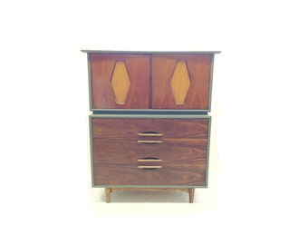 Vintage Highboy In Seal and Wood