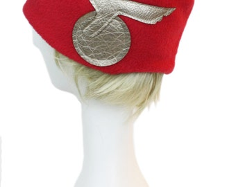 The Flash DC Classic Comic book-Style Red Fleece Costume Cosplay Beanie Hat with Laser-Cut Decals