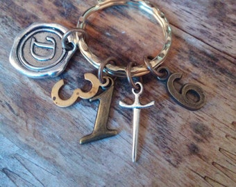 Christian keychain-Deuteronomy 31:6-Be strong and courageous