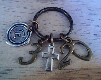 Christian keychain-Ephesians 3:20-Now to him who is able to do immeasurably more than all we ask or imagine-christian keychain