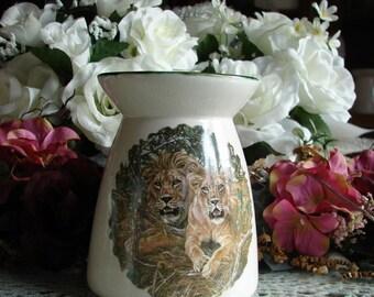 The Lions Ceramic Tea Light Tart Burner