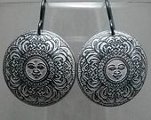 Special Order for Tom Mandala Sun Design Etched Copper Earrings
