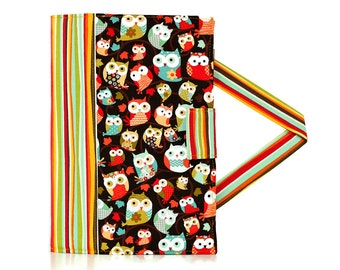 Colorful Owls and Hearts Crayon Artist Case with option to add a name, Art wallet, Crayon holder, Crayon wallet, Crayons and paper included