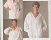 Vogue 1509 / Vintage Designer un patron de Calvin Klein / Blouse chemise Top / taille 8