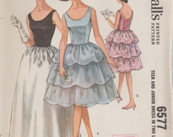 McCalls 6577 / Vintage Sewing Pattern / Evening Dress / Gown / Size 14 Bust 34