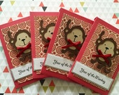 Set of (6) - Lucky Monkey Red Envelopes
