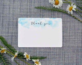 Printable Blue Bunny Thank You Note