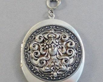 Ingrid,Goddess Necklace,Goddess,Goddess Locket,Greek Goddess,Silver Goddess Locket,Girl Locket,Valleygirldesigns Locket,Locket Necklace,Phot