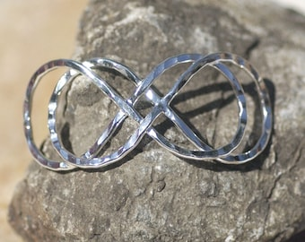 Silver Plated Handmade Domed Infinity Symbol Centerpiece Focal Point Finding - Jewelry Designing Findings