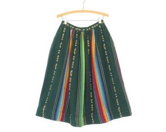 60s Skirt * Vintage Patio Skirt * 1960s Folk Circle Skirt * Medium - Large