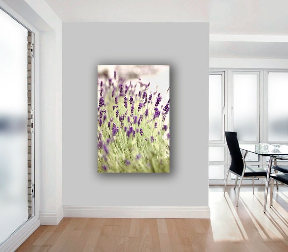 Large Canvas Wall Art, Lavender, 40x60, Purple, Green, 16x20 Canvas, Flowers