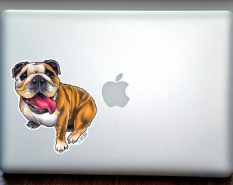English Bulldog Full Color Art Decal Apple Macbook Laptop