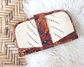 S A L E woven wicker wallet / 1970's