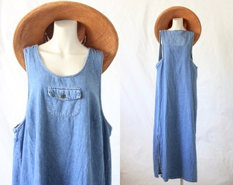 oversized denim market dress