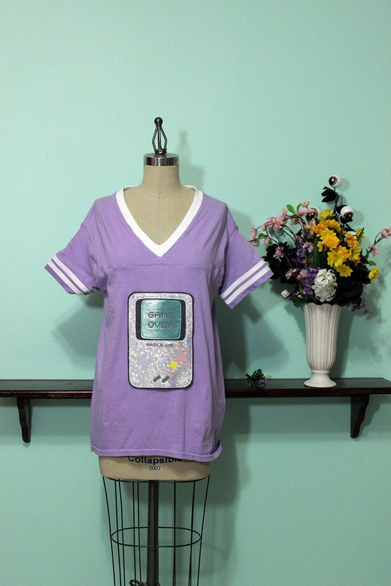 Magical Girl Console Fashion Jersey Football Top - Holographic Sizes XS-4X
