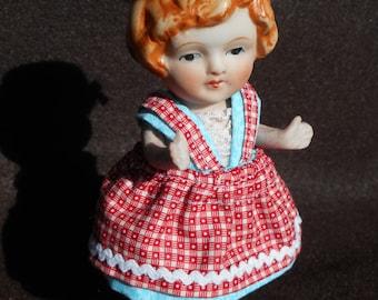 Vintage Made in Japan #143 on back 6 inch porcelain doll