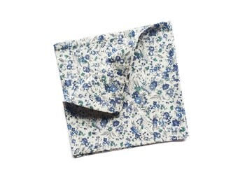 Remy - Blue Floral Pocket Square