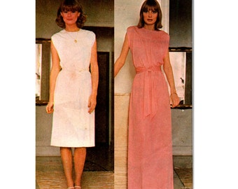 McCall's 5047 Womens Boho Dress or Maxi 70s Vintage Sewing Pattern Size 6 - 8 Bust 30 1/2 - 31 1/2 inches UNCUT Factory Folded