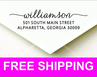 Personalized Self Inking Return Address Stamp WEBCP2770 - Great Wedding or Housewarming Gift!