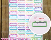 Appointment Boxes - Rainbow - printed kiss cut stickers for your planner or calendar - full sheet - MATTE - GRCS