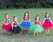Wonder Woman Tutu Super Hero Tutu Halloween Costume Batman Robin Spiderman Superman INSPIRED tutu dress costume