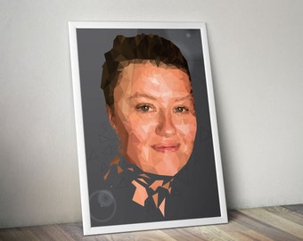Custom Graphic Low Poly Portrait Poster