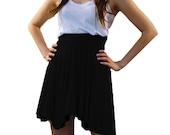 Women's Black Skater Skirt Cherie Mini Skirt-Sizes Medium and  Large