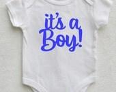 Gender Reveal Onesie Gender Reveal Announcement Baby Boy Announcement Gender Reveal Party Baby Announcement Onesie Announcement Shirt Boy
