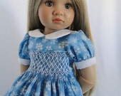 Hand smocked dress for Kidz N Cats Doll