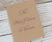 Maid of honor planner - matron of honor - bridesmaid - organizer - jotter - wedding planner - budget - bridal shower planning - natural