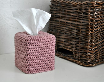 Modern Square Tissue Box Cover Pink Nursery Decoration Rose Home Decor Neutral Kleenex Box Cover