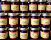 Wild Elderberry, Fruit Preserves, Homemade Jam, Elderberries, Condiment Spread, Ice Cream Topping, Wedding Favor, Edible Gift