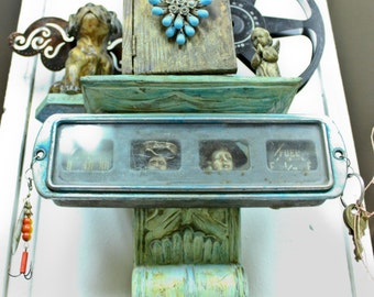 Assemblage Wall Hanging with Angels