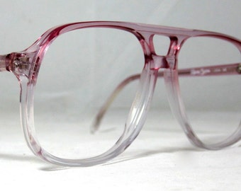 Vintage EyeGlasses 70s Double Bridge Aviator Frames. Pink/Purple