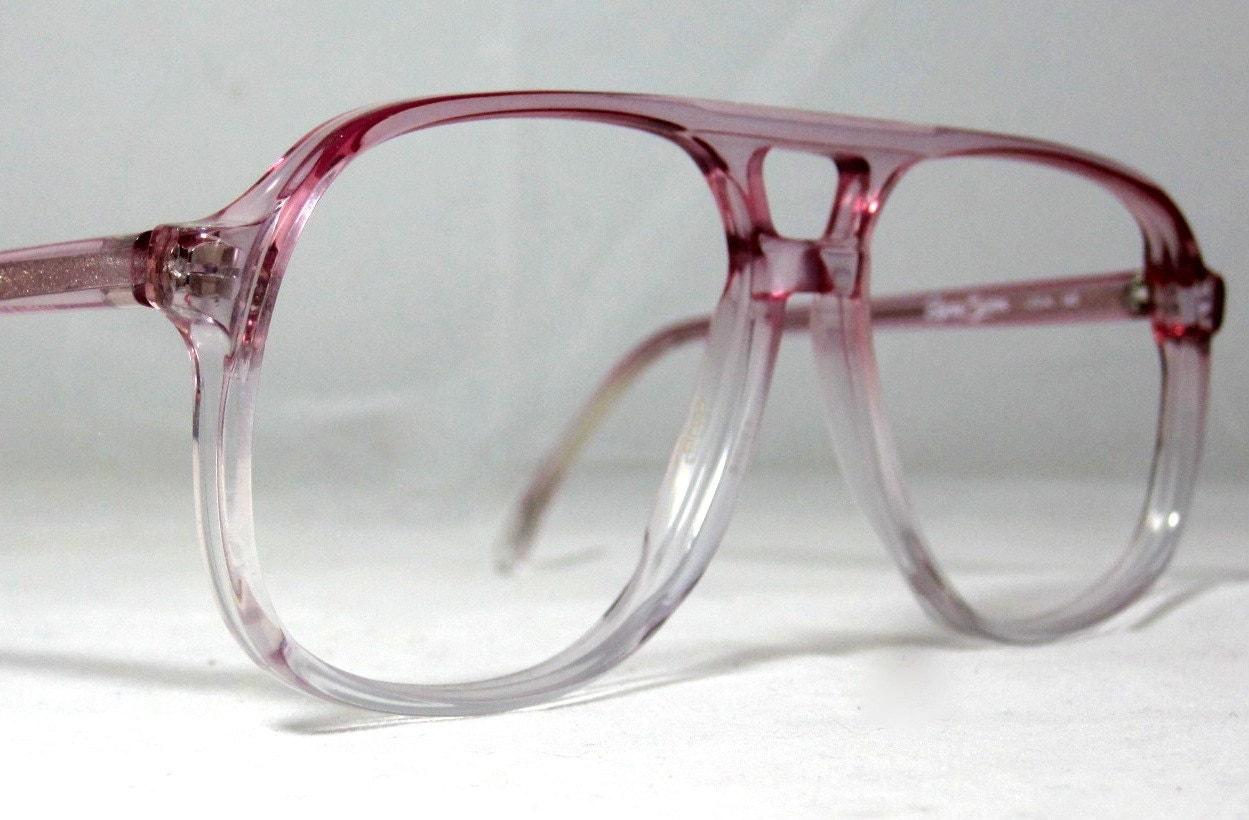 Vintage EyeGlasses 70s Double Bridge Aviator Frames.