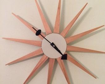 Starburst WALL CLOCK Mid Century Modern, Minimalist, Modernism, Modern Wall Clock, Battery Operated Wall Clock, at Modern Logic