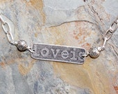 Reversible Love Necklace, Love is Divine Necklace, Valentine's Day Necklace, Handmade Necklace, Mother's Day Necklace, Silver Necklace