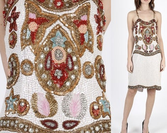 Sequin Dress Beaded Dress Flapper Dress Gatsby Dress Boho Party Dress Disco Dress Party Dress Hippie Dress Boho Dress Mini Dress 80s Dress