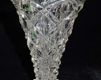 Clear Pressed Glass Bud Vase Home & Garden Home Décor Vase