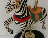 Vintage Zebra Carousel Lamp