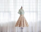 Vintage 1950s Circle Skirt - 50s Full Skirt - Beautiful Mess Skirt