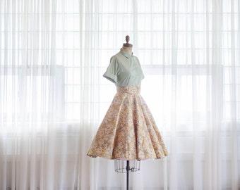 Vintage 1950s Circle Skirt - 50s Full Skirt - Beautiful Mess Skirt