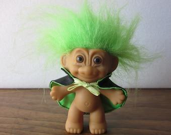 Halloween Russ Troll Doll Green Hair with Cape