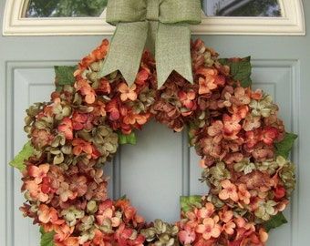 Fall Wreath Fall Autumn Wreath Fall Wreath for Door